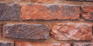 红砖纹理背景 图库摄影