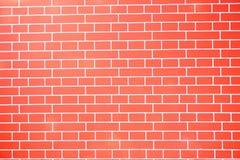 红砖水平的纹理背景 库存照片