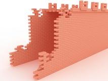 红砖#2被毁坏的桥梁  免版税图库摄影