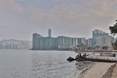 红磡海湾和九龙海湾hk 库存照片