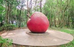 红红色苹果模型 免版税库存照片
