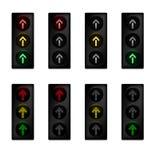红绿灯设置了与箭头 库存图片