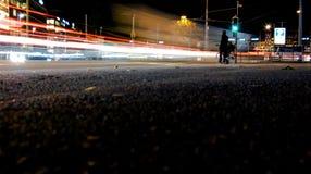 红绿灯迷离在日内瓦,瑞士 免版税库存图片