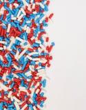 红色、白色和蓝色洒 免版税库存图片