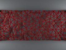红色三角网 库存图片
