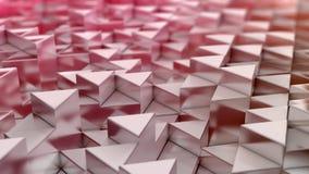 红色三角背景 免版税库存照片