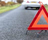 红色三角警告 免版税库存照片
