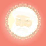 红色与父亲Christm的圣诞节减速火箭的装饰 免版税图库摄影
