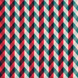 红色与蓝色条纹的组织无缝的样式 库存图片
