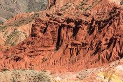 红色专栏在沙漠 免版税库存照片
