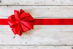红色丝带圣诞节背景 库存图片