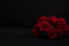 红色丝带在黑暗中上升了 免版税图库摄影