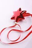 红色丝带星形 库存图片