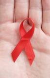 红色丝带符号 免版税库存图片