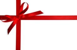 红色丝带缎 免版税库存图片
