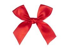 红色丝带缎 免版税库存照片