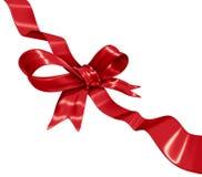 红色丝带装饰 库存图片