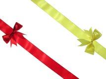 红色丝带黄色 免版税库存照片