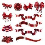 红色丝带组装 库存图片