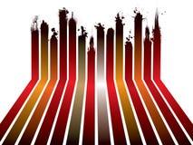 红色丝带splat 免版税图库摄影