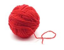 红色丝球纱线 免版税库存图片