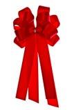 红色丝织色带 库存图片