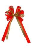 红色丝织色带 免版税库存照片