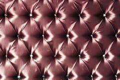 红色丝绸时髦的室内装潢 库存照片