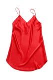 红色丝绸衬裙。 库存照片