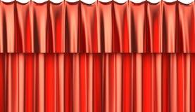 红色丝绸帷幕无缝的背景 免版税图库摄影