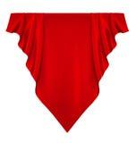 红色丝绸横幅 免版税图库摄影