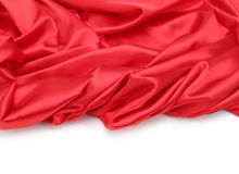 红色丝织物背景 免版税图库摄影