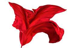 红色丝织物背景 库存照片