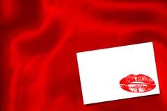 红色丝绸的综合图象 库存照片