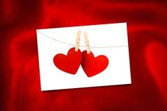 红色丝绸的综合图象 图库摄影