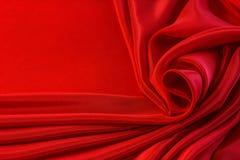 红色丝绸背景 免版税库存图片