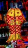 红色中国双重鱼旧历新年装饰北京中国 免版税库存图片