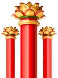 红色中国柱子 免版税库存照片