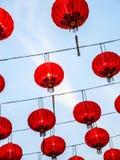 红色中国灯笼 库存照片