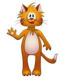 红色乐趣动画片猫 库存照片