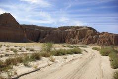 红色亚利桑那的小山 图库摄影