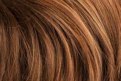 红色人的发光的头发 免版税库存照片