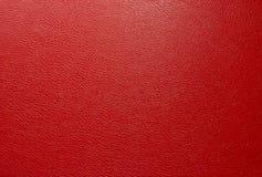 红色人造革纹理 免版税库存图片
