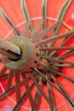 红色伞关闭 免版税图库摄影