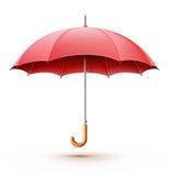 红色伞 向量例证