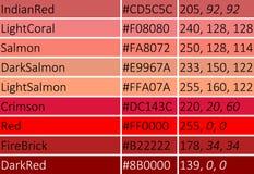 红色传染媒介例证树荫  库存照片