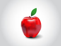 红色传染媒介苹果计算机 库存图片