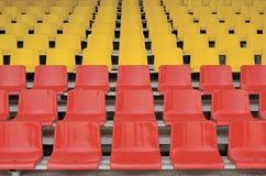 红色位子黄色 库存图片