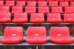 红色位子 免版税库存照片