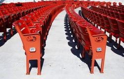 红色位子 免版税库存图片